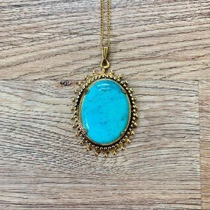 Jewelry - Turquoise Brooch Necklace